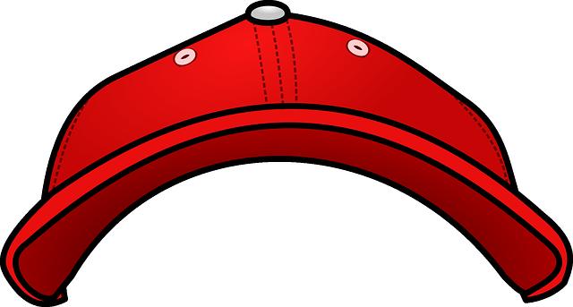 červená kšiltovka